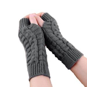 KC STORE Women's Free Size Woolen Handmade Gloves