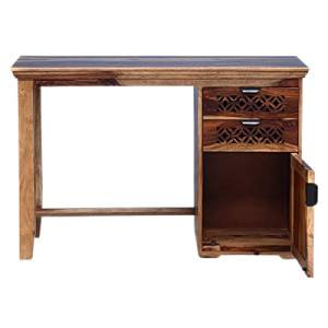 Furniselan Solid Wood Study Table- Best Modern Study Table To Buy Online In India 2021